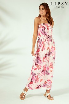 Lipsy Floral Maxi Beach Dress