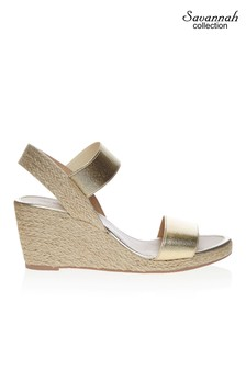 Savannah Low Espadrille Wedges