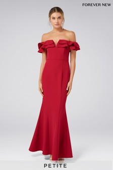 Forever New Petite Off Shoulder Ruffle Maxi Dress