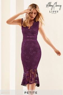 Abbey Clancy x Lipsy Petite Lace Bodycon Dress