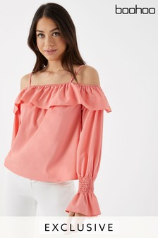 Boohoo Cold Shoulder Top
