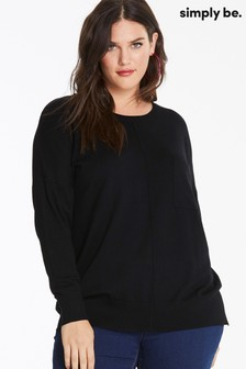 Simply Be Pocket Detail Boxy Jumper