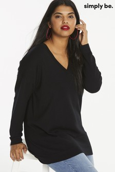 Simply Be Slouchy V Neck Tunic