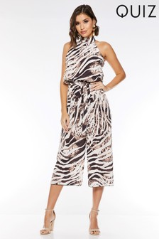 Quiz Animal Print Culotte Jumpsuit