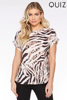 Quiz Animal Print T-Shirt