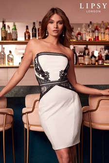 Lipsy Bandeau Cornelli Bodycon Dress