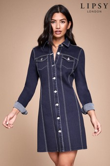 Lipsy Denim Bodycon Dress