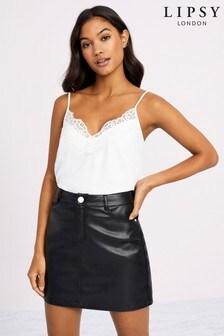 Lipsy PU Skirt