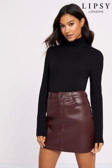 Lipsy Faux Leather Mini Skirt