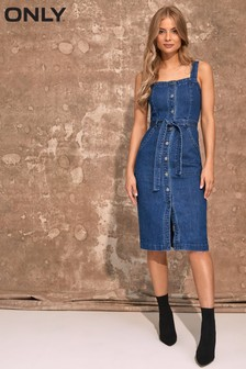 Only Belted Denim Dress