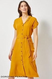 Robe chemise Dorothy Perkins Channel nouée à la taille