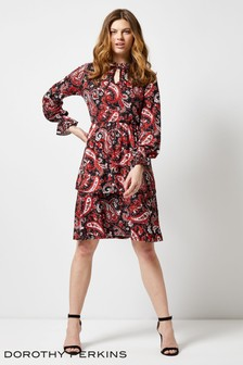6fb95e1f95f Dorothy Perkins Paisley Print Tiered Dress