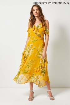 Dorothy Perkins Chiffon Cold Shoulder Maxi Dress