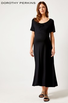 99924ccd284 Dorothy Perkins Maternity Scoop Neck Bow Midi Dress