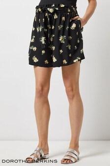 Dorothy Perkins Maternity Ditsy Print Tie Waist Shorts