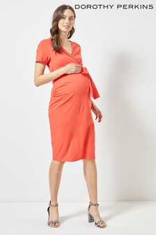 Dorothy Perkins Maternity Ruched Wrap Dress