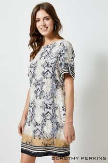 Dorothy Perkins Snake Print Shift Dress