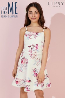 Lipsy Girl Floral Scuba Dress