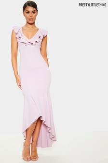 PrettyLittleThing Crossover Maxi Dress