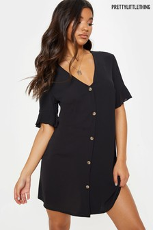 PrettyLittleThing Oversized Button Front Shirt Dress
