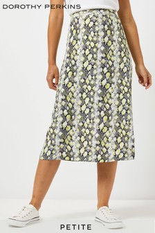 Dorothy Perkins Petite Snake Print Midi Skirt