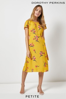 Dorothy Perkins Petite Floral Print Midi Dress