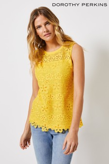 Dorothy Perkins Tall Floral Lace Vest