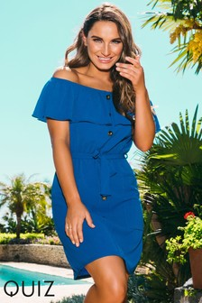 Sam Faiers x Quiz Tie Dye Bardot Dress