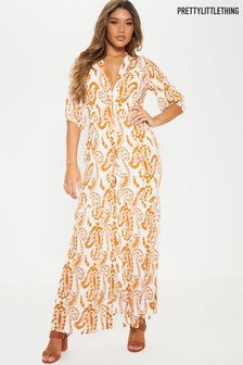 PrettyLittleThing Maxi Shirt Dress