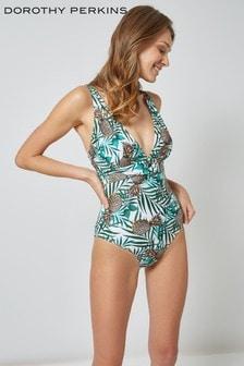 Dorothy Perkins Pineapple Leaf Belt Swimsuit