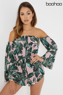 Boohoo Printed Playsuit