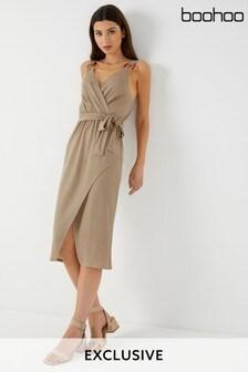Boohoo Strap Midi Dress