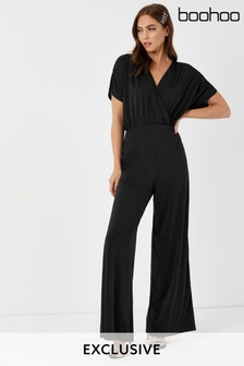 Boohoo Grow-On Sleeve Ruched Jumpsuit