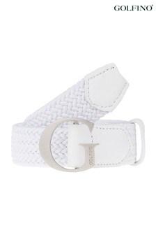 Golfino Leather Woven Stretch Belt