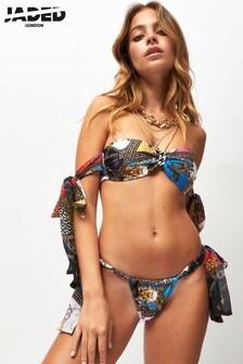 Jaded London Printed Bikini Top