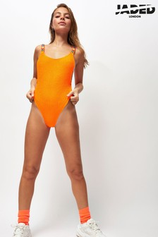Jaded London Mirrored Strap High Leg Cami Swimsuit
