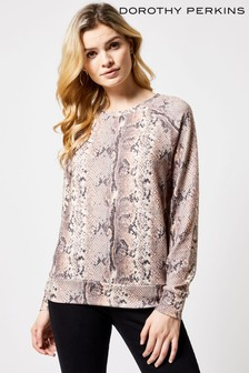 4f269b07801d07 Dorothy Perkins Snake Print Sweat Top