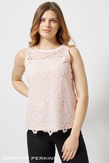 Dorothy Perkins Floral Lace Shell Top