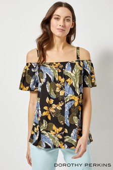 Dorothy Perkins Palm Soft Cold Shoulder Top