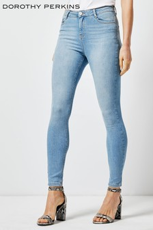 Dorothy Perkins Shape Lift Light Wash Jeans
