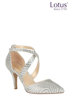 Lotus Diamanté Embellished Sandals