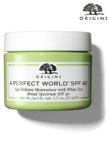 Origins A Perfect World Spf 40 Age-Defense Moisturiser With White Tea