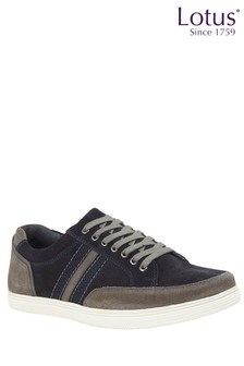 Lotus Suede Casual Lace Up Shoes