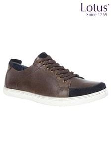 Повседневные кожаные ботинки на шнуровке Lotus