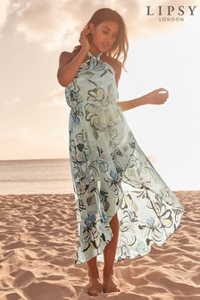 Lipsy Swirl Print Maxi Beach Dress