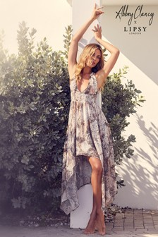 Abbey Clancy x Lipsy Snake Print Maxi Beach Dress