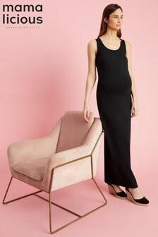 449edbec5d5 Mamalicious Maternity Organic Cotton Maxi Dress