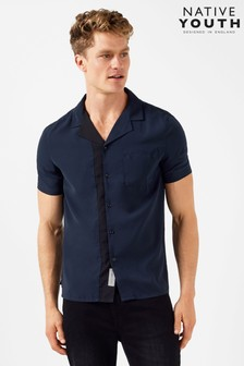 Native Youth Revere Collar Shirt