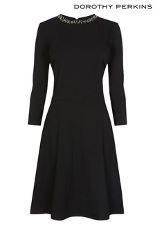 Dorothy Perkins Tall Embellished Fitted Flare Dress