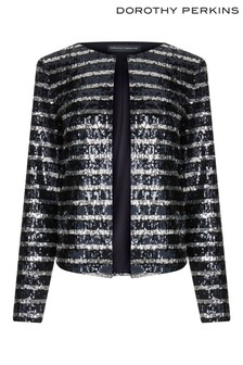Dorothy Perkins Tall Colour Sequin Stripe Blazer